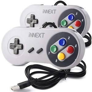 2-Pack-iNNEXT-SNES-USB-Super-SNES-Controller-Gamepad-for-PC-amp-MAC-amp-Raspberry-Pi