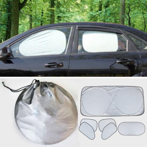 6pcs//set Car Automobile Front Rear Window Sun Shade Full Shield Visor Reflector