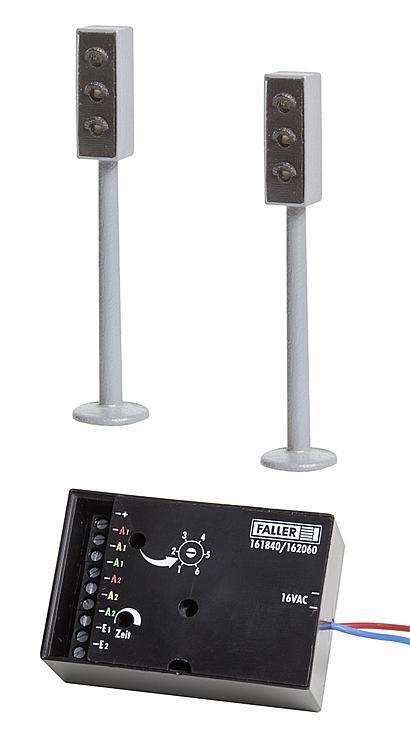 FALLER 161840 h0 LED-Feux triCouleures avec électronique 2x