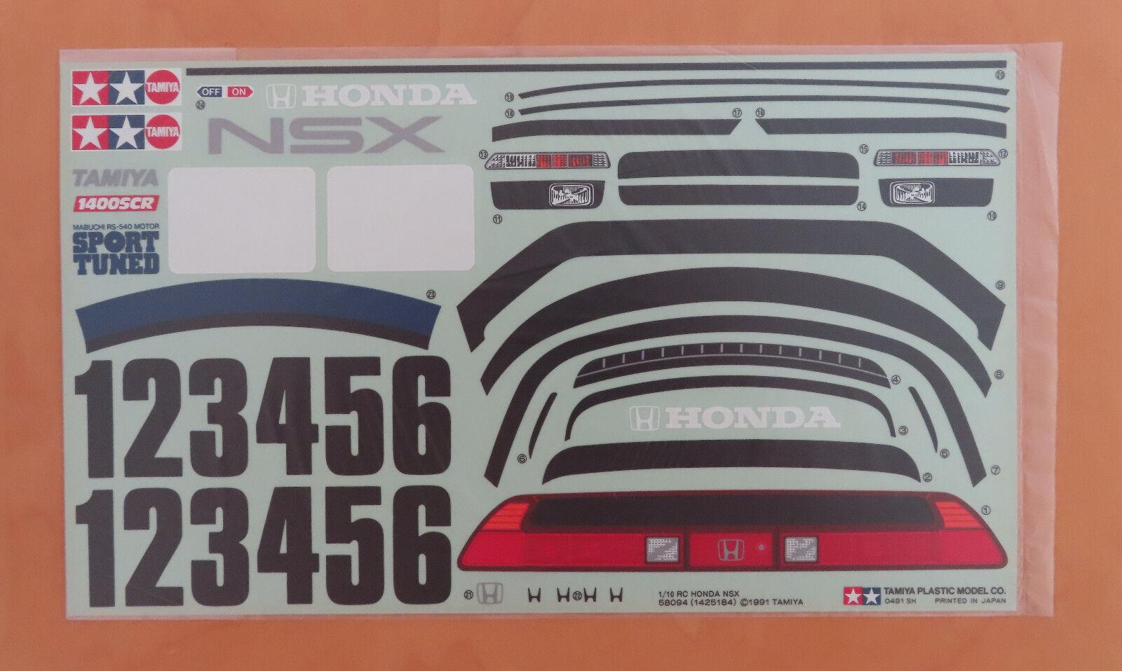 Radio Control Tamiya Calcomanía Honda NSX 58094 NEU NUEVO en Caja 1991