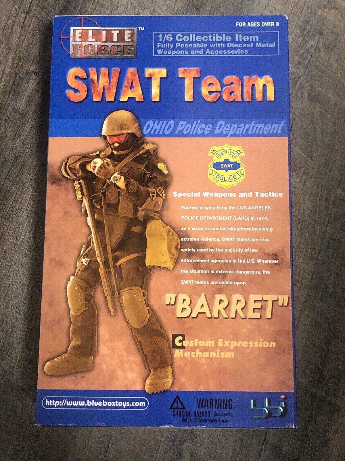 Blu scatola giocattoli ELITE  FORCE SWAT squadra OHIO polizia DEPT. BARRET 12  cifra BBI  il prezzo più basso