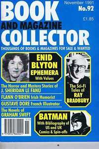 BATMAN-ENID-BLYTON-RAY-BRADBURY-Book-Collector-no-92-Nov-1991