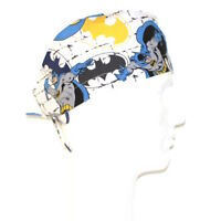 Batman And Bat Signal On White Theme Scrub Hat