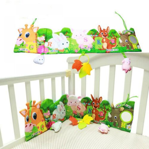 Cloth Book Baby Bed Bumper Around Animal Model Toy Educational Crib Plush Child