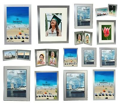 Plain Silver Photo Picture Frames 3.5x5 4x6 5x7 6x8 8x10 Christmas Xmas Gift