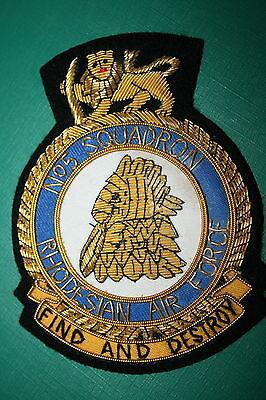 RHODESIA RHODESIAN AIR FORCE NO 5 SQUADRON BULLION WIRE BLAZER JACKET BADGE