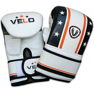 VELO-Bag-Glove-Adult-Boxing-Gloves-MMA-UFC-Muay-Thai-Training-Grappling-Punch