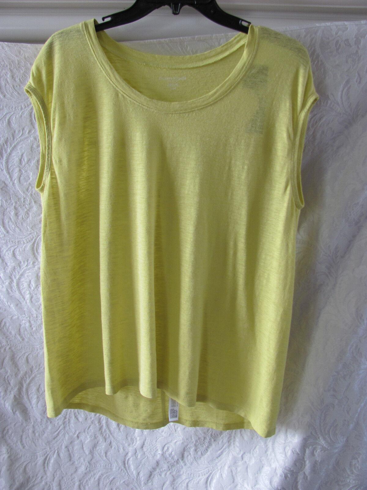 Eileen Fisher Hemp Organic Cotton Scoop Neck Top -Honeydew-Größe PS -NWT