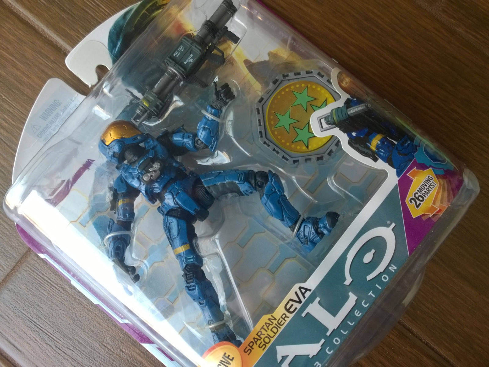 GameStop exclusive Halo 3 Series 6  Blau EVA  Action Figure (Xbox 360) new RARE