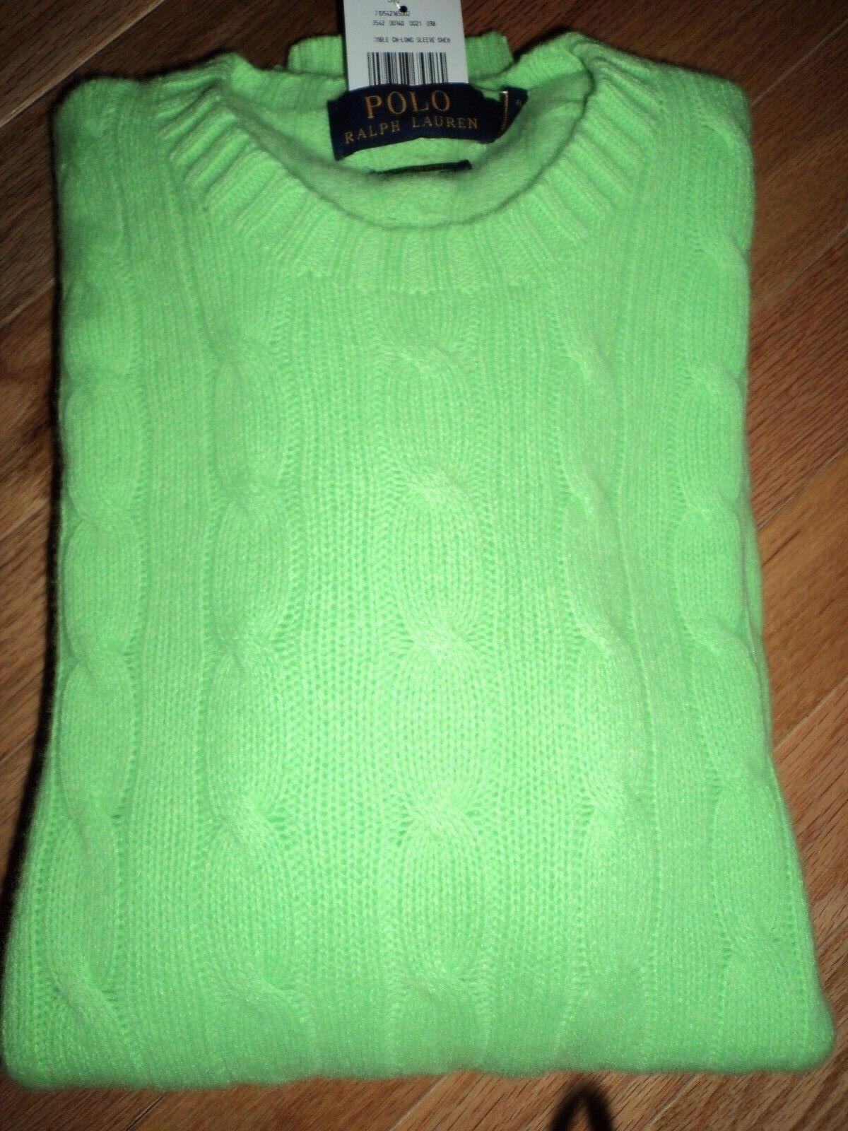 +++nwt 398 Polo Ralph Lauren 100% Cashmere Sweater sz XL+++
