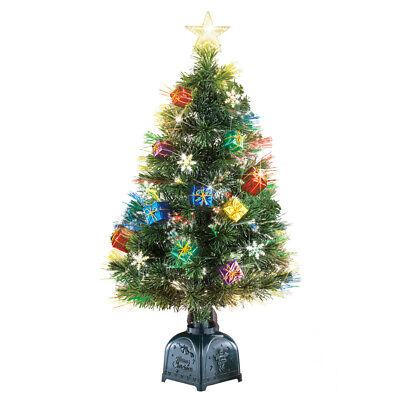 Rotating Tabletop Christmas Tree with Fiber Optic Lights ...