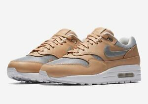 Da-Donna-Nike-Air-Max-1-se-Premium-UK-3-US-5-5-EUR-36-Beige-Argento-AO0795-200