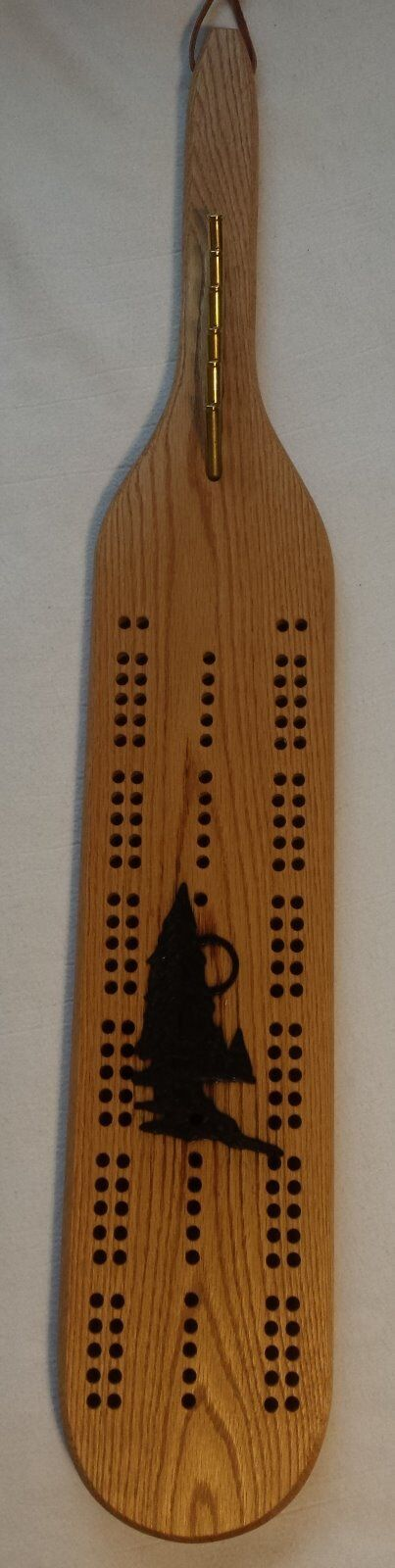 Tree design Oak Cribbage Board