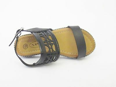 Mädchen Spot On Leder Sandalen UK Größen 28-34 H0181