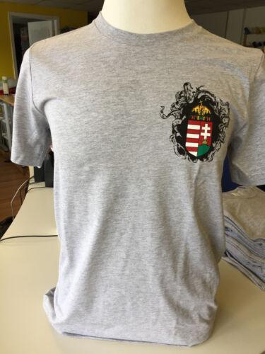 Magyar Apparel Men/'s T-shirt Cotton Hungarian Coat of Arms Tee Made in USA XS-4X