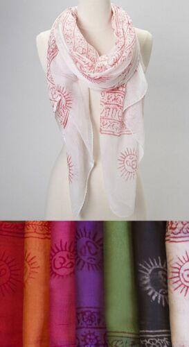 Yoga OM Meditation Scarf stole Soft Cotton Print Women Summer Fashion Sale
