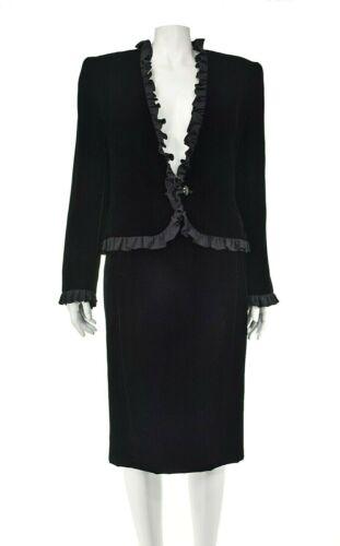 VALENTINO NIGHT Vintage Black Velvet Evening Suit