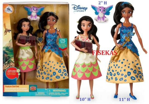 Disney Store Elena of Avalor Deluxe Singing Doll with Isabel Jaquin Set 2017 NEW