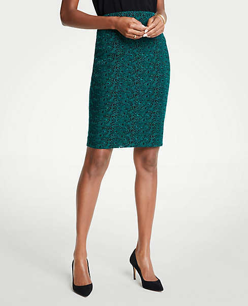 Ann taylor Embroidered Lace Pencil Skirt Sz 10 BB3