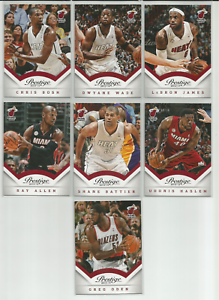 2013-14-Prestige-Miami-Heat-7-Card-Team-Set-LeBron-James-Dwyane-Wade-Chris-Bosh