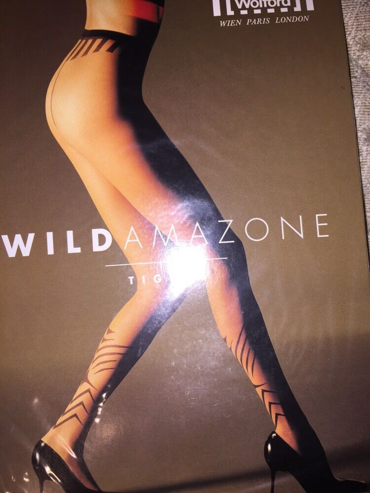 Wolford Sauvage Amazone Collant Taille   Petit Couleuris Noir 18263 - 10