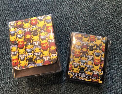 Pikachu Team Skull Grunt Box sleeves and deck Pokemon Center Japanese