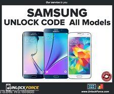 Unlock Code Samsung Galaxy S7 S6 S5 S4 S3 S2 Core Note 5 4 3 Videotron