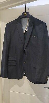 Umoristico Prossimo Da Uomo Blu Blazer Taglia 44r-mostra Il Titolo Originale