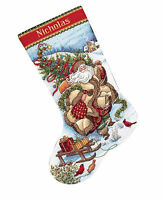 Cross Stitch Kit Gold Collection Santa's Journey Christmas Stocking 8752
