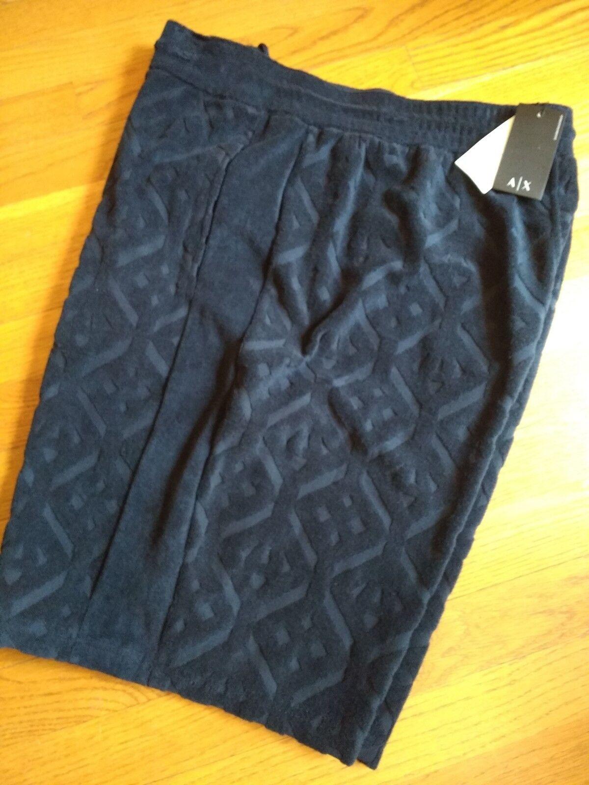 NWT,  MSRP, Mens Armani Cotton Blend Bermuda Elastic Pull On Lounge Shorts
