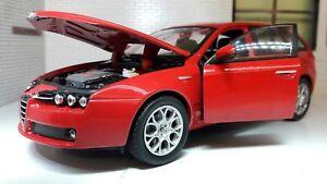 1-24-ECHELLE-WELLY-2007-ALFA-ROMEO-159-V6-SPORTWAGON-Domaine-modele-moule-22482