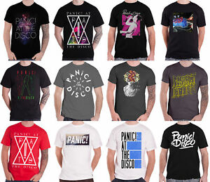 12a39fc2 Panic At The Disco T Shirt Mens band Logo panic! Brendon Urie ...