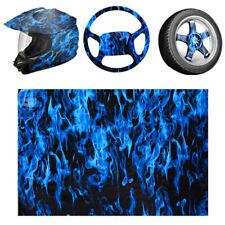 05x1m Pva Hydrographic Film Water Transfer Printing Film Hydro Dip Blue Fire