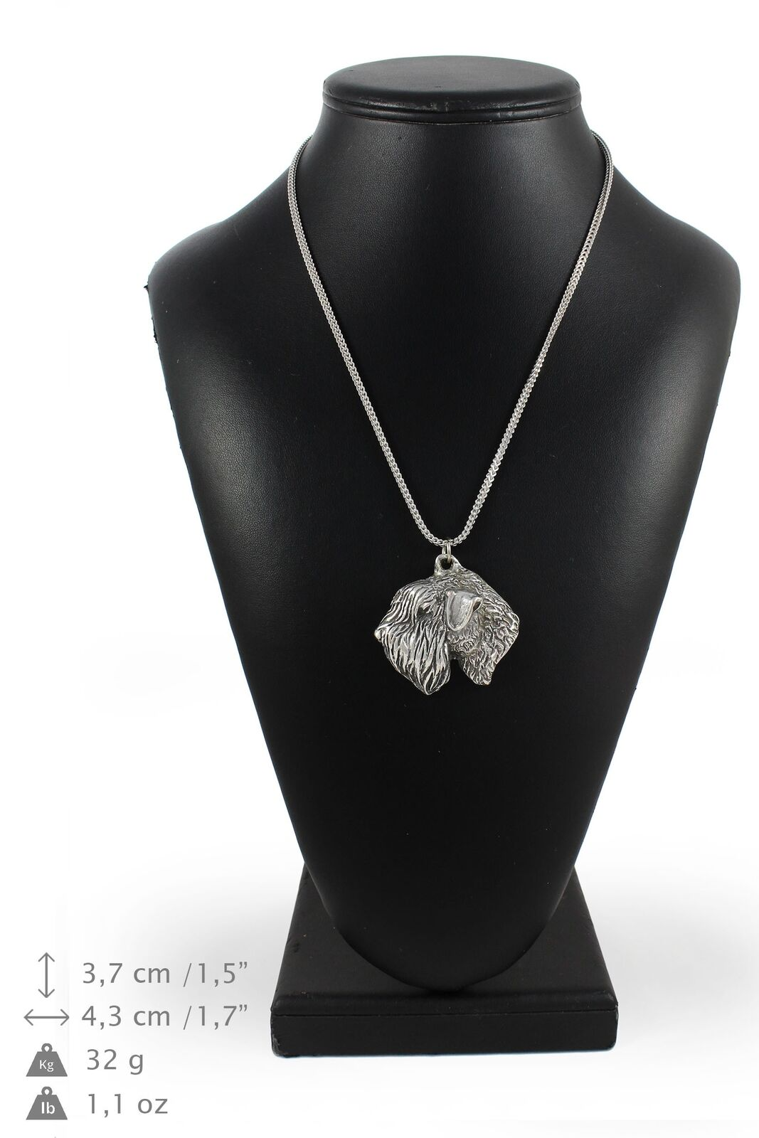 Irish Wheaten Terrier - Silber coverot necklace with Silber chain, Art Dog