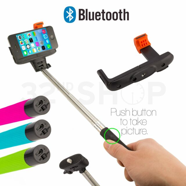 NEW Selfie Stick Telescopic Monopod With Shutter Button iPhone Compatible