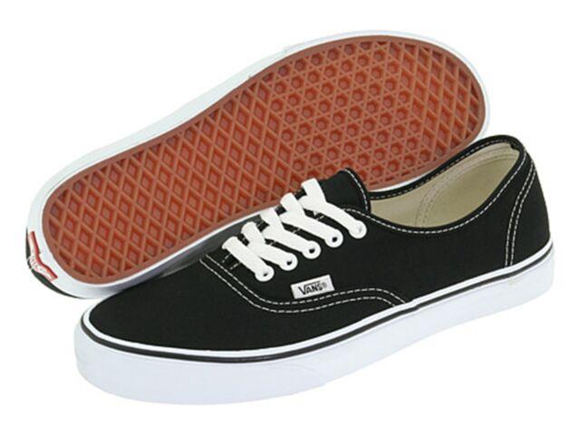 VANS CLASSIC AUTHENTIC BLACK WHITE Men's Size 5 Canvas Shoes New Without Box