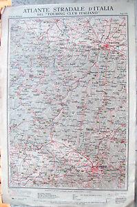 1920-CARTA-GEOGRAFICA-FIRENZE-BOLOGNA-TOURING-MODENA-PAVULLO-FIRENZUOLA-EMPOLI