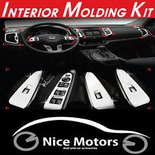 Chrome Interior Molding Kit 14Pcs 1Set For KIA Sportage 2011 2012 2013 2014 +