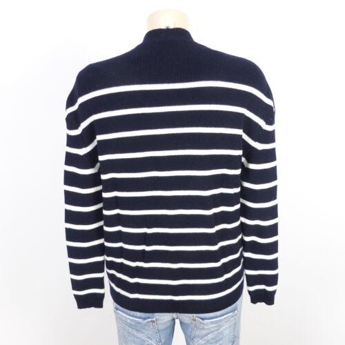a bretone h41 scuro gr i maglia h lavorato righe maglia a a M Maglione Xs blu 34 z18wqa