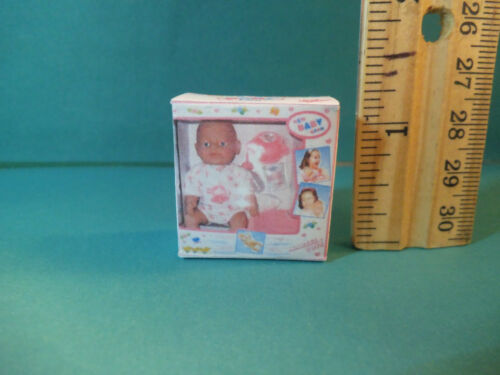 NO REAL DOLL Barbie 1:6  Miniature Toy Baby Doll Box for Kelly Playroom bb
