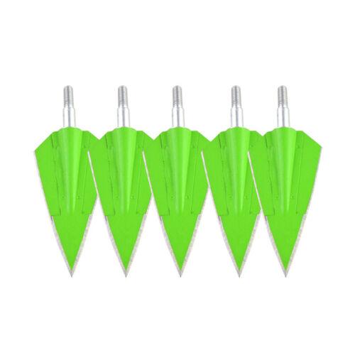 3//6//12pcs Broadheads 2 Blade Arrowheads 150gr Archery Tips Points Field Hunting
