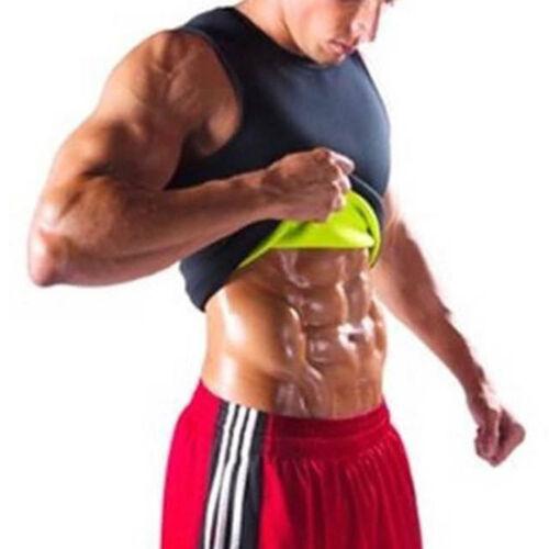 Mens Body Shaper Corset Sweat Vest YOGA Cami Shirt Gym Workout Sport Shapewear