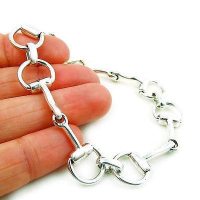 Kreativ Horsebit Snaffle 925 Sterling Silver Horse Tack Bracelet In A Gift Box Geschickte Herstellung