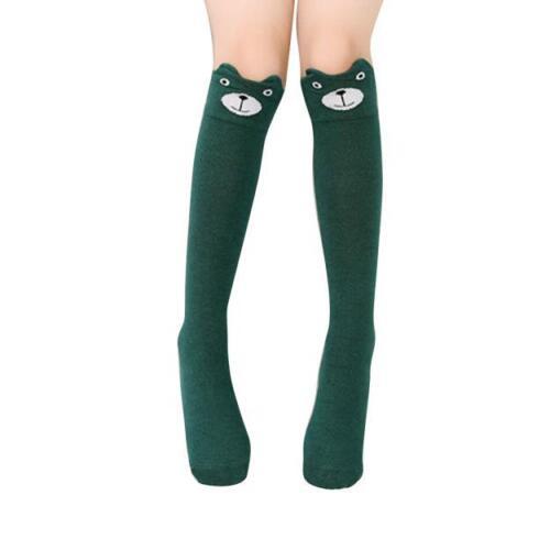 New Children Kids Girls Animal Pattern Knee High Socks Cute Stockings Long Socks