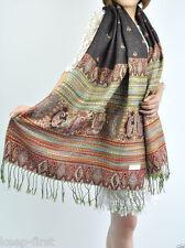 Womens Cashmere Multi-Color Pashmina Scarves Tassels Scarf Wrap Shawl Stole