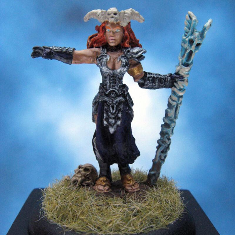 Painted Reaper Miniature Bria Dark Necromancer