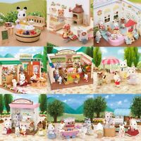 Sylvanian Families Shopping Sets Animal Family Figurines Bunny Bears