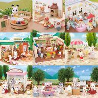 Sylvanian Families Shopping Sets Animal Family Figurines Bunny Bears