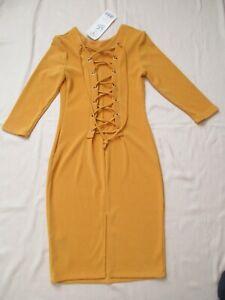 Merribel-Damen-Kleid-Gr-S-gelb