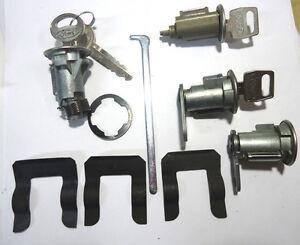 New Ford Chrome Ignition Doors Trunk Lock Key Cylinder Set
